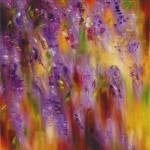 La Glycine à fond rougeoyant par Patrick Waravka