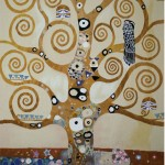 Tapisserie Abre de vie d'après Klimt