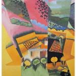 Tapisserie Paysage à Ceret d'après Juan Gris